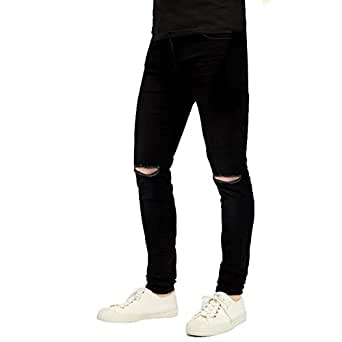 Buy Oiin Damler Knee Cut Men S Slim Fit Ripped Damage Jeans Latest Trend Pant 2018 766 32 At Amazon In