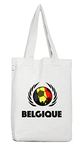 Belgio Belgi Calcio Wm Gruppi Fanfest Borsa Di Juta Borsa Di Stoffa Terra Positivo Calcio Belgio Bianco