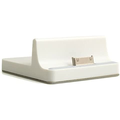 System-S – Docking station cradle dock tavolo frontale stazione di ricarica in bianco per Apple iPad 1 iPad 2