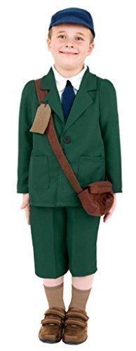 Kinder Mädchen Jungen 1940er 2. Weltkrieg Kostüm Flüchtling Verkleidung 4-12 Jahre - 10-12 Jahre, (Weltkrieg Ii Kostüm Flüchtlings)