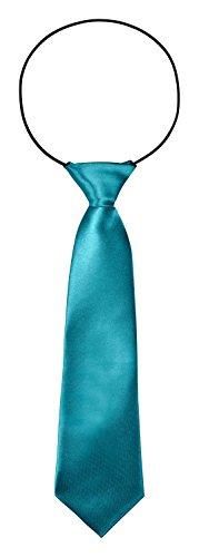 BomGuard Kinderkrawatte Kinder Krawatte 7 cm breit Hochzeit Konformation Taufe in Türkis