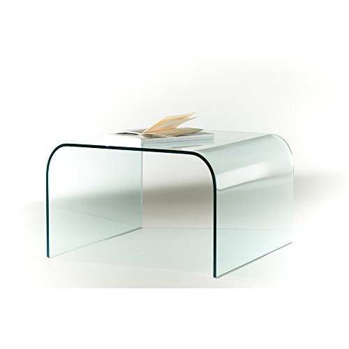 Curved glass coffe table Arecibo 100% made in Italy - living room, sofa, halls