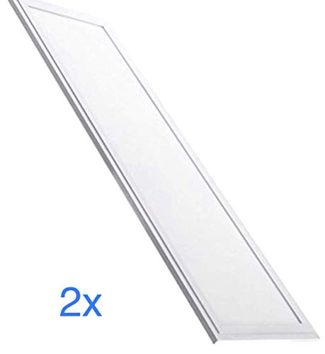 2x LED Panel Slim 120x30 cm, 48 W, kaltweiße Farbe (6500 K), 4100 echte Lumen! Verkäufe aus Europe. 48 Led-farbe