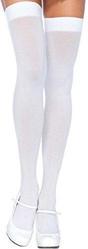 Leg Avenue Damen Overknee Strümpfe blickdicht weiß Einheitsgröße One Size ca. 36 bis 40