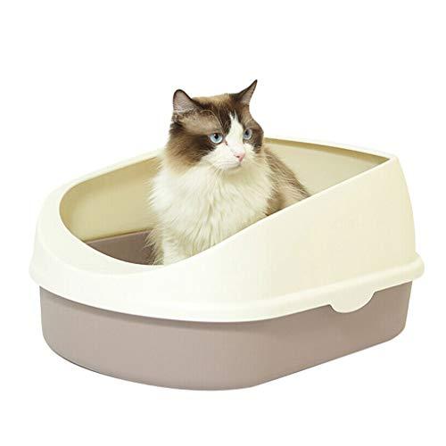 NYJ Katzentoilette Katzentoilette mit Rim Tray Box Holzkohlefilter Tiefe selbstreinigende Katzentoilette für Katzen Hygienisch Geruchsfrei
