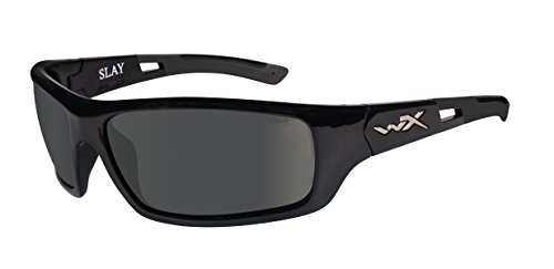 WILEY X SLAY Polarized Smoke Grey Gloss Black Frame