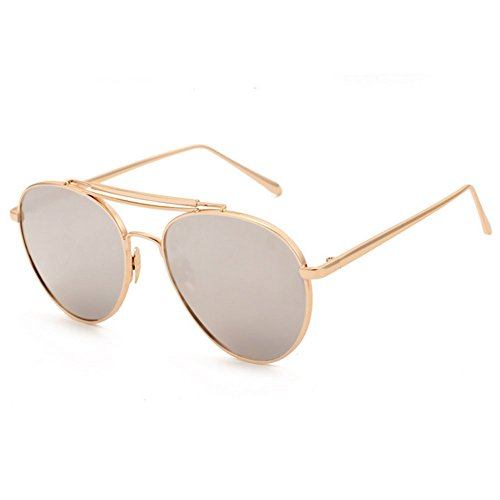 Z-P unisex retro metal frame color film lens yurt sunglasses anti-ultraviolet radiation (Die Frauen Film Kostüme Kleinen)