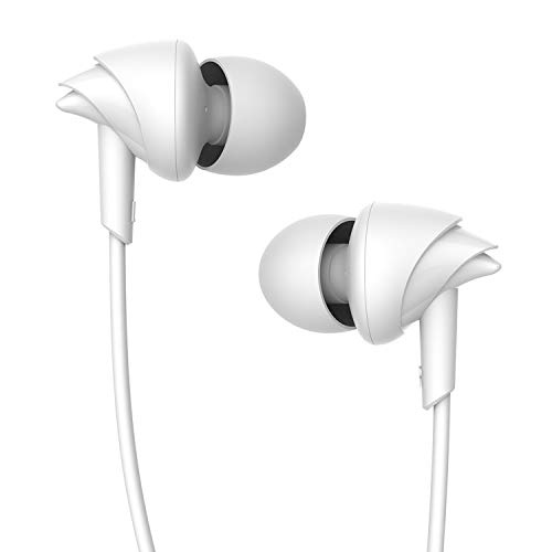 boAt BassHeads 100 in-Ear Headphones with Mic (White)