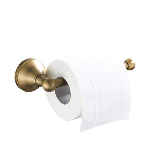 WOMAO Einfach Toilettenpapierhalter mit Trompete Boden, Wandmontieren Klorollenhalter Antik Messing,...