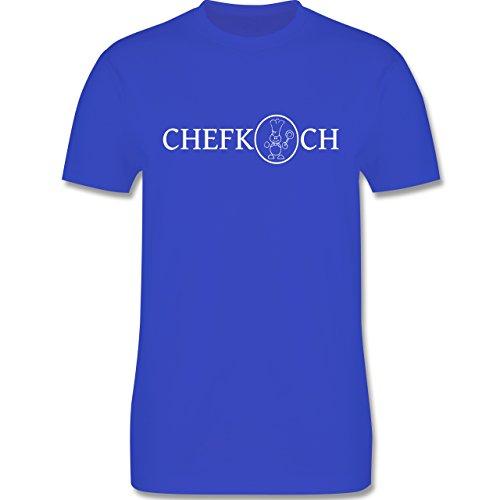 Küche - Chefkoch - Herren Premium T-Shirt Royalblau