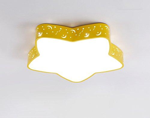 BOBE SHOP- Einfache moderne Pentagon Wohnzimmer Schlafzimmer LED Deckenlampe, Kinderzimmer LED Licht (Farbe : Gelb-60)