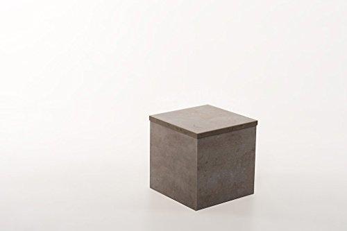 Hermesmöbel Tabouret de Fleur Tabouret Table Basse Design béton Clair L 30 B 30 H 30 cm