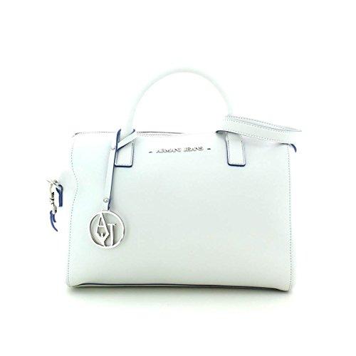 Armani  Bolso Shopping Eco Saffiano Ar, Sac à main pour femme White