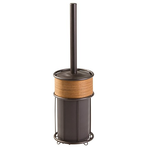 interdesign-90532eu-realwood-brosse-de-wc-bronze-finition-teck-bois-1219-x-1219-x-4255-cm