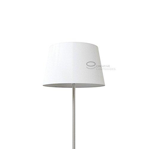 Creative Lampshades Abat-jour Ovale revêtement Lumière Blanc - 2 pcs.D.inf 21x15 cm-D.sup 15x11 cm- H 12.5 cm, E14 Pour Lampe de Table