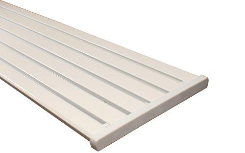 Gardinenschiene 5 und 6 läufig aus Aluminium in weiß, 300 cm (2 x 150 cm)