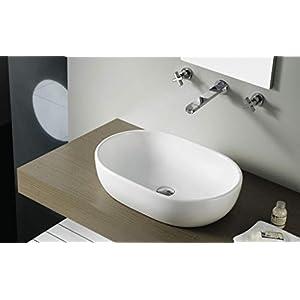 Bathco – Lavabo Bathco Sobre Encimera Oval Toulouse 590X415X145