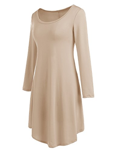 Kleid beige langarm