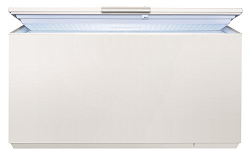 AEG AHB73724LW Gefriertruhe / 368 L / LowFrost - weniger Eisbildung / Flexibles Lagerungssystem / Quick-Türöffnung / Temperaturalarm / Rollen