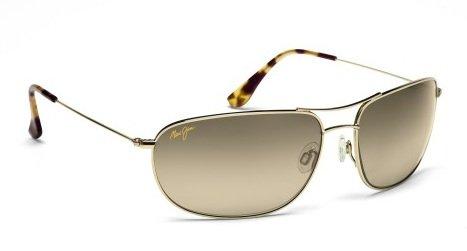 ffc89faee453e7 Maui Jim Hideaways HS248-16 Gold frame avec HCL Bronze lentilles polarised  lunettes de soleil
