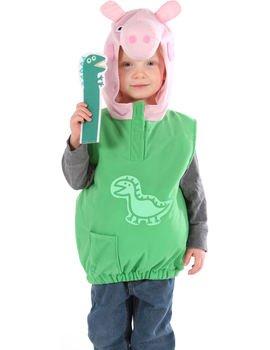 Vmc - costume di george della serie peppa pig, con dinosauro, 2-4 anni