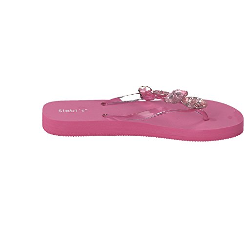 Siebi's MIAMI à la mode Tongs de piscine Flips Femmes Rose