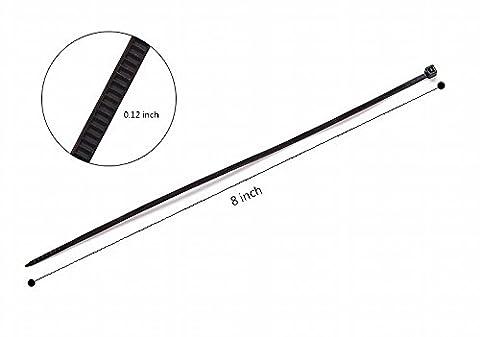 Buydirect 100pièces autobloquant Attaches de câble en nylon 20,3cm Noir