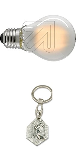 Sigor LED-Filament Lampe E27 8,5W matt 6110701 mit Anhänger Hlg. Christophorus
