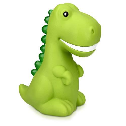 Navaris LED Nachtlicht Dino Design wiederaufladbar - mit 60 min Timer - Süße Farbwechsel Kinder Nachttischlampe - Schlummerlicht Lampe Grün -