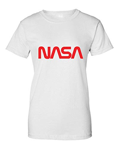 2b The World Remembers: NASA Old School Logo Camiseta de Mujer Large