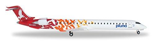 modelo-500-diecast-herpa-527446-pluna-lineas-aereas-uruguayas-bombardier-crj-900-cx-crc-1