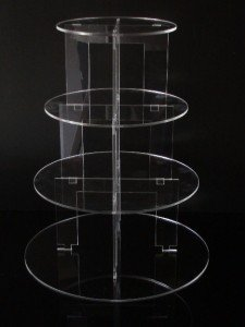 Classikool 4 Tier Circle Acrylic Cup Cake Party Wedding Stand
