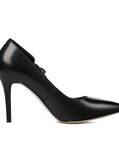 WSS 2016 Chaussures Femme-Bureau & Travail / Décontracté-Noir / Rouge-Talon Aiguille-Talons / Bout Pointu-Chaussures à Talons-Cuir red-us5 / eu35 / uk3 / cn34