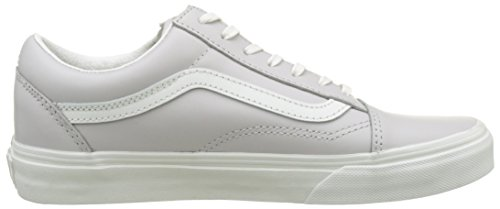 Vans Damen Ua Old Skool Zip Sneakers Grau (Leather Wind Chime/blanc De Blanc)