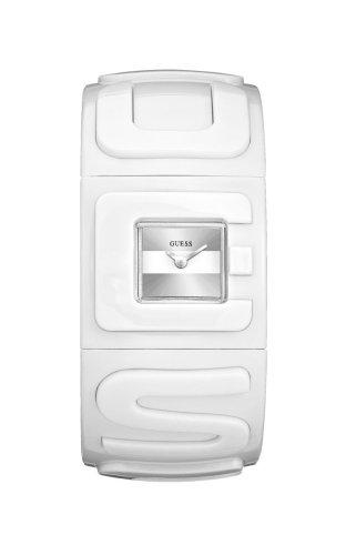 Guess Guess Trend W80026L2 - Reloj analógico de mujer de cuarzo con correa de goma blanca - sumergible a 30 metros