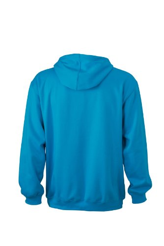 James & Nicholson Unisex Kapuzenpullover Sweatshirt Hooded Sweat Turquoise