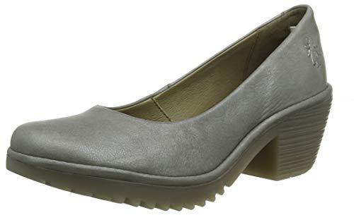 Fly London Woda996fly, Zapatos de tacón con Punta Cerrada para Mujer, Gris Piombo 002, 39 EU