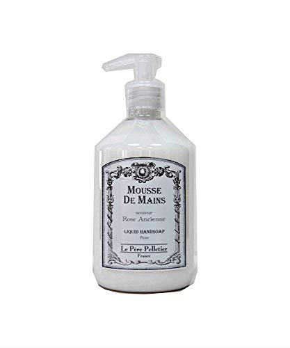 Le Père Pelletier LPP : Distributeur 500ml Mousse de Mains parfum - Flacon Pompe pour Salle Bain Cuisine (Rose Ancienne)