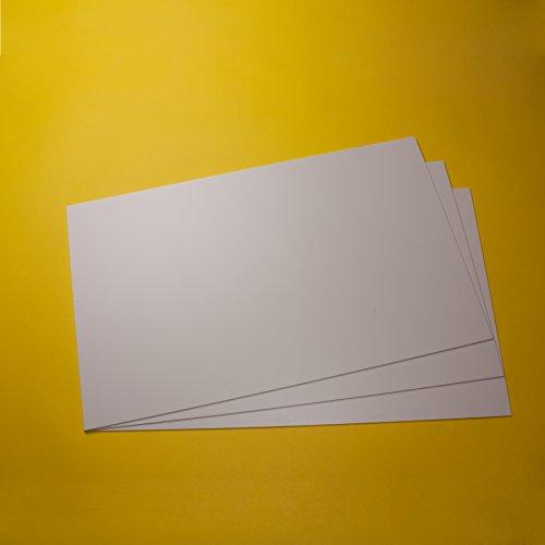 Polystyrol Platten PS Platten Kunststoff Platten für Modellbau / Basteln weiss in verschiedenen Größen und Mengen, hier 3 Stück, 320mm x 200mm x 1mm