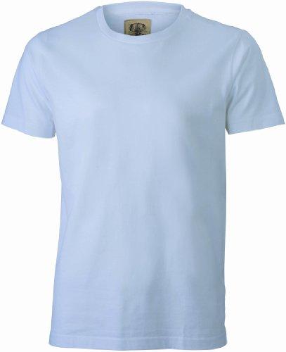 James & Nicholson Herren Langarmshirt T-Shirt Men's Vintage White