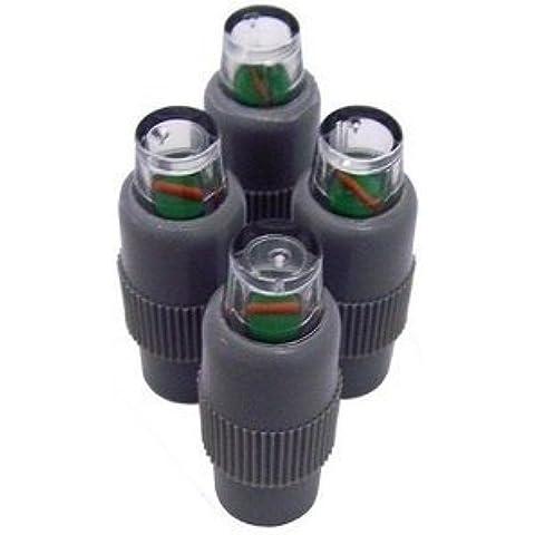 Confezione di QUATTRO pressione Guardie Easy Fit Alert di allarme bassa pressione pneumatico valvola Caps per VW Golf