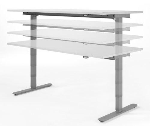 elektrisch höhenverstellbarer Schreibtisch 1200x800x680-1160, Lichtgrau