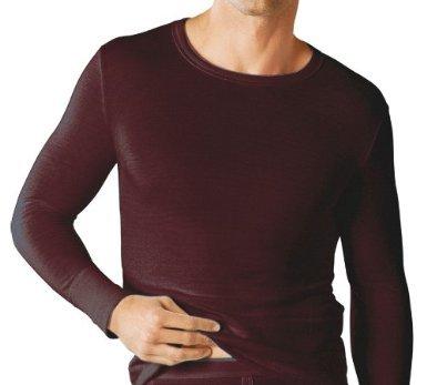 Thermo-Unterhemd Herren langärmlig Rundhalsausschnitt hüftlang anthrazit Größe 5 (M)