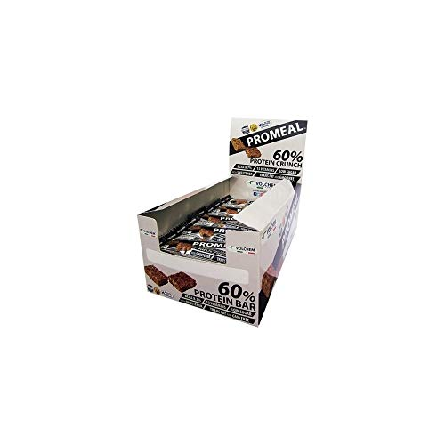 Volchem promeal protein crunch 60% barretta proteica, low sugar, gusto cacao - pacco da 20 x 40 g