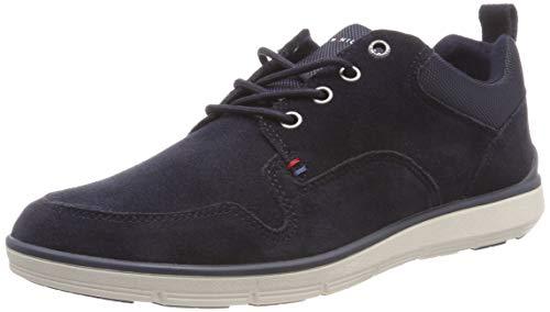 Tommy Hilfiger Herren Lightweight Suede Mix Shoe Sneaker, Blau (Midnight 403), 40 EU
