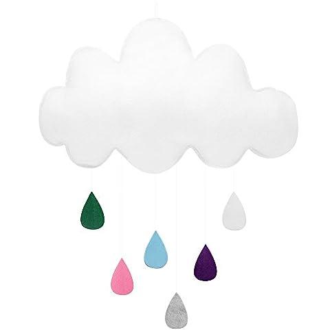 Hysagtek Felted Clouds Waterdrop Wall Hanging Decor for Baby Shower Kids Bedroom Baby Nursery Room