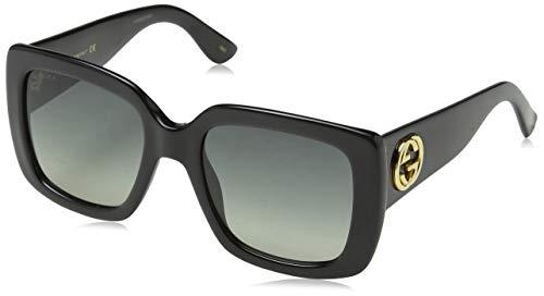 Gucci Damen GG0141S 001 Sonnenbrille, Schwarz (Black/Grey), 53
