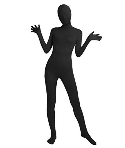 NiSeng Erwachsener und Kind Bodysuit Kostüm Zentai Ganzkörperanzug Kostüm Lange Ärmel Bodysuit Kostüm Schwarz 3XL