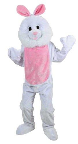 White Easter Bunny Rabbit Mascot Adult Mens Fancy Dress (Mens White Rabbit Kostüme)