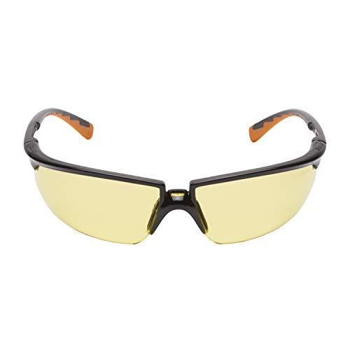 3M Solus Schutzbrille SOLYC1, gelb - Arbeitsschutzbrille für leichte Reparaturarbeiten - Anti-Kratz- & Anti-Beschlag-Beschichtung
